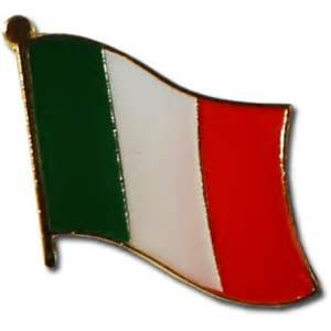Backwoods Barnaby Italy Flag Lapel Pin