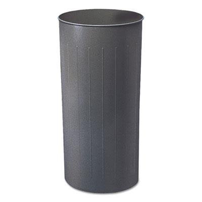 Round Wastebasket, Steel, 20gal, Charcoal trash can Steel 20 Gallon Charcoal