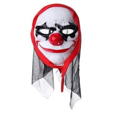 Macerdonia Nose Clown Mask Costume Halloween Headscarf]()