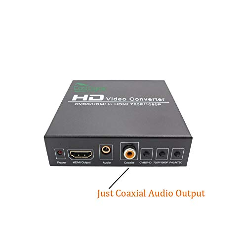 RCA AV HDMI to HDMI Converter CoolDigital 3RCA AV CVBS Composite Video L/R Audio or HDMI to HDMI Adapter 1080p with Coaxial Audio and 3.5mm Audio Output