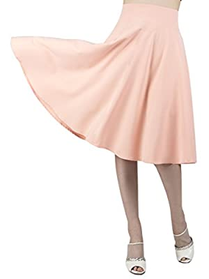 CHOiES record your inspired fashion Women's Pink/BlackBlue/White Solid High Waist Trumpet Midi Skirt (10 Colors)