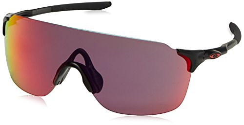 Oakley Men's Evzero Stride Non-Polarized Iridium Rectangular Sunglasses, MATTE BLACK, 38 ()