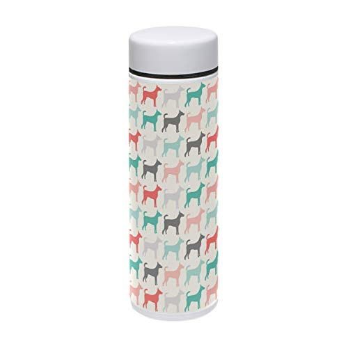 Dog Training Run Colorful Stainless Steel Travel Mug, Vacuum Insulated Stainless Steel Water Bottle, Stainless Steel Thermo Mug for women and man. Great for Commuter, Outdoors and Office.