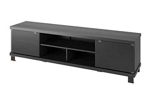 Sonax B-207-CHT Holland 70.75-Inch Extra Wide TV/Component Bench, Ravenwood Black by Sonax