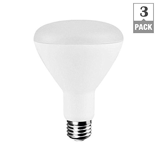 EcoSmart 65W Equivalent Soft White (2700K) BR30 Dimmable LED Light Bulb (3-Pack) (Ecosmart Light Bulbs Led compare prices)