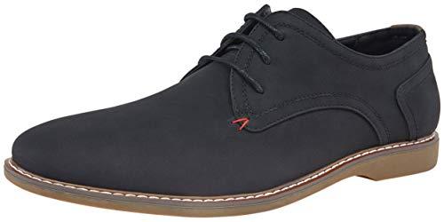 JOUSEN Men's Dress Shoes Lightweight Suede Oxford Plain Toe Derby Shoes (13,Black-a)