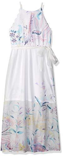 Amy Byer Girls' Big Scalloped Maxi Dress, Ivory/Pink Girly Garden Border 8]()