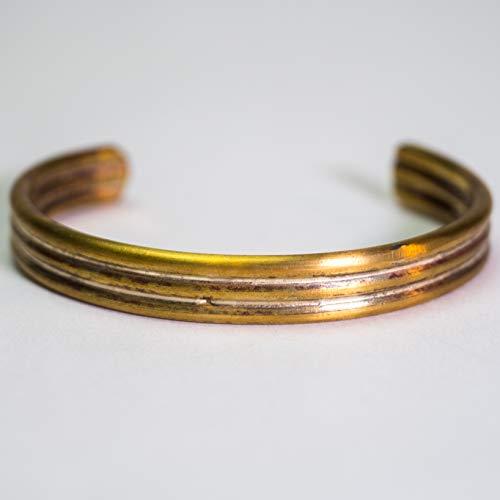 Cause & Effect Brass 3-Bar Cuff Men's Bracelet ()