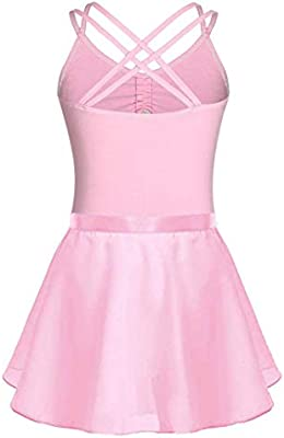 FONLAM Vestido Maillot de Ballet para Niña Conjunto de Dos Piezas ...