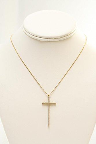 Cubic Zircon Crucifix Necklace