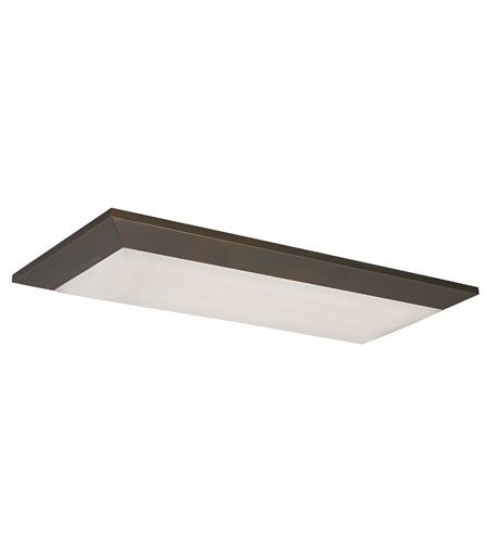 Lighting by AFX AELF232RBMV Aeon 16-Inch Multi-Volt Flush Mount Light Fixture, Oil-Rubbed Bronze Finish with White Linen Pattern -