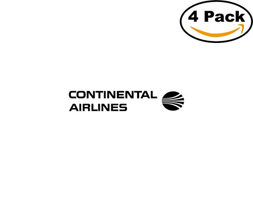 Continental Airlines 1286 4 Stickers 4X4 inches Car Bumper Window Sticker Decal