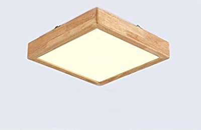 Jingzou Nordic solid wood bedroom lights wood light modern led living room ceiling lamps 20209CM