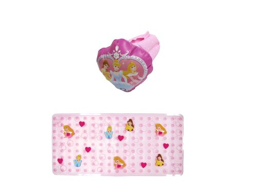Disney Bathtub Mat and Inflatable Faucet Cover, Princess (Disney Princess Tub compare prices)