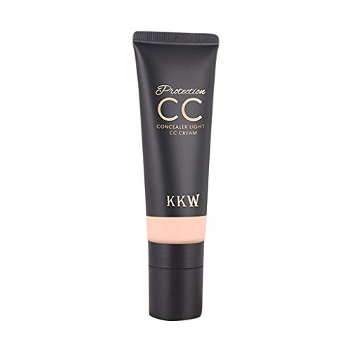 Chezaa KKW Protection Concealer CC Color-Correction and Care Makeup Kit, Erase Dark Circles, Blemishes and Freckles, Natural and Light, 1.59 Ounce