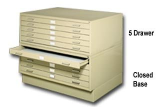 - Safco Prod. Co., 5-Drawer File, H4994, Outside Size W X D X H: 40-3/8 X 29-3/8 X 16-1/2