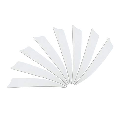 Letszhu Archery Arrows Feather Fletching 4 Inch Real Turkey Vanes for Hunting Target Shooting (25 Pack) (White)