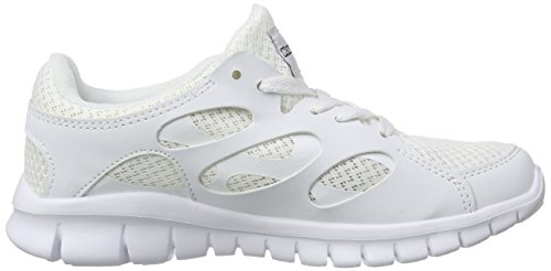Mesh unisex Zapatillas Footwear black 1011 LIGHT adulto Blanco white Weiß Synthetic Unisex KappaFOX Oqp6Iwn
