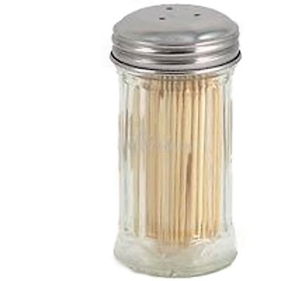 Tablecraft Products Glass Toothpick Dispenser with Picks H-653