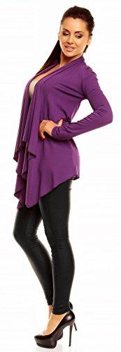 Top Draped Blazer Purple M Zeta Waterfall Ville Jacket 3XL Cardigan 320z Women's Cape nnq8TYA0