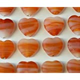*HUGE SPRING SALE!* 10pcs Orange SWIRL Frosted HEART Glass Beads (15mm) *Stunning Quality HAND MADE Beads for Jewellery Making* (Ref:4A9)