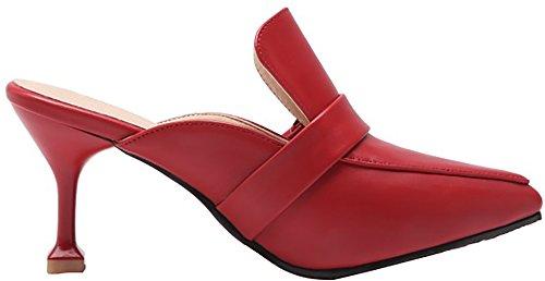 Calzeer Da Donna Tuoxib Scarpe Slip-on A Spillo 7cm Stiletto Rosse