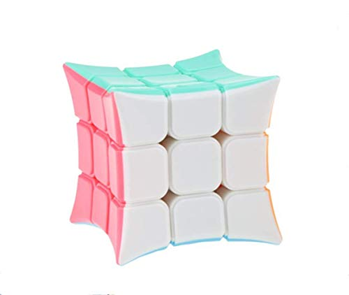 AI-YUN Speed Cube 3x3x3 Smooth Magic Cube Puzzle Solid Color Concave Design Smooth - Column Concave