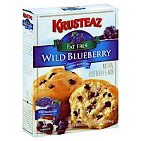 (Krusteaz Fat free Wild Blueberry Muffin Mix 15.8oz (2 pack))