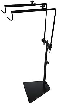 Adjustable Reptile Lamp Stand Floor Light Holder, Double Hook Hanging Heat Lamp for Reptile Amphibian Terrariu