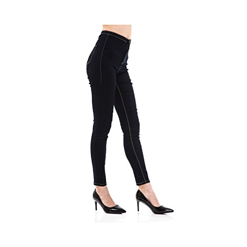 Fit 5 Scuro In Pantaloni Donna Blu Tasche Da Skinny Jeans Denim wqxIF6S