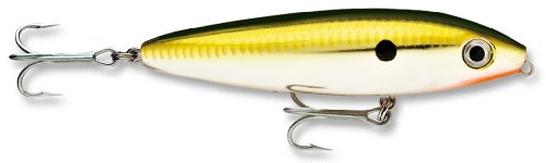 Rapala Saltwater Skitter Walk 11 Fishing lure, 4.375-Inch, Gold Chrome