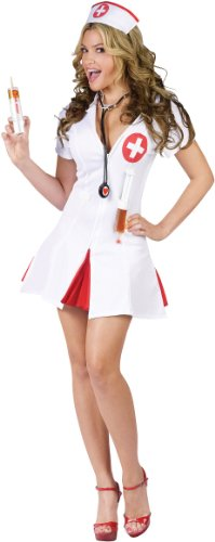 Fun World Women's Nurse Costume, Multi, Small/Medium]()