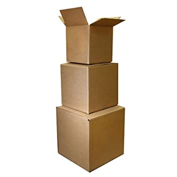 The Boxery 5x5x5 Shipping Boxes 25 Pack
