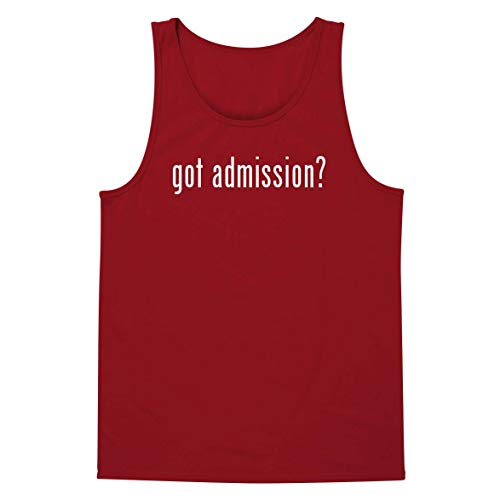 got Admission? - A Soft & Comfortable Men's Tank Top, Red, Large