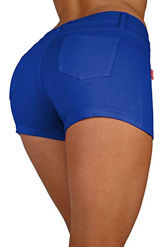 Basic Booty Shorts Premium Stretch French Terry Moleton with a Gentle Butt Lifting Stitching in Royal Blue Size XXL