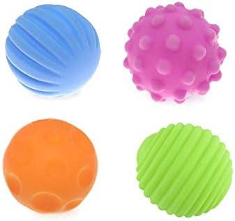 4 Pc De Bebé con Textura Multi Bola Infantil Juguete Balón con La ...