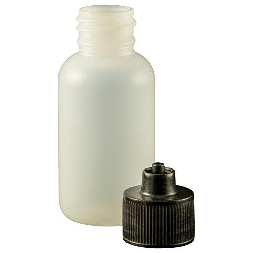 Jensen Global JG1.0BC Black 1 oz Boston Round Bottle & Cap Kit Bag of 10