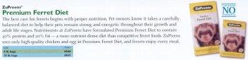 - ZuPreem Premium Ferret Diet, 4 LBS
