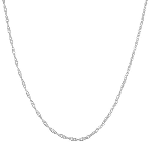 Sterling Silver Delicate 1.1mm Replacement Rope Chain (22 (Sterling Silver 22 Inch Rope)