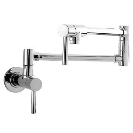 Newport Brass 9485/15A East Linear Double Handle Wall Mounted Pot Filler Faucet (Low Lead Compliant), Antique Nickel (Pewter)