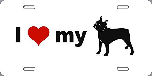 BuildASign I Love My Boston Terrier Novelty Dog License Plate - 6