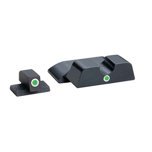 AmeriGlo Tritium I-Dot Green with White Outline Sight Set for Smith and Wesson M and P Shield by AmeriGlo