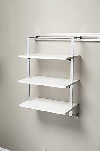 Arrange a Space SU3.12.24.CM Three Shelf Add-On, 24 by 11.75 by 38-Inch, Maple