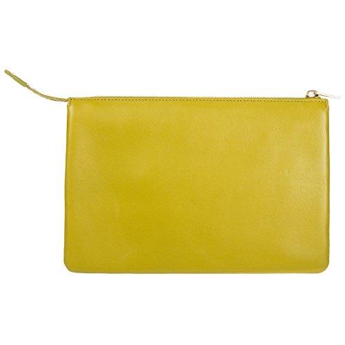 bolso verde Cline en pochette de piel mujer nuevo mano S4dBq