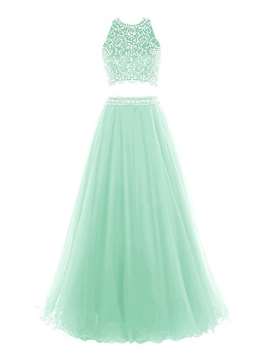 Two Mint Long DaaDress Pieces Dresses Beaded Evening Women's Dress Party Prom 5nnZqUv4I