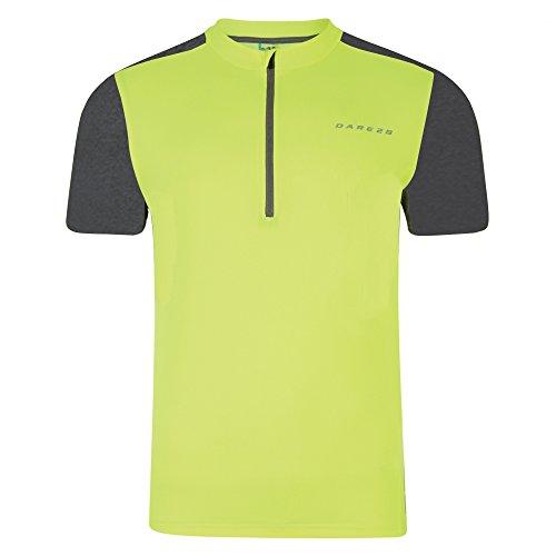 Dare 2b hombres del peligro II Formación T-Shirt Amarillo fluorescente