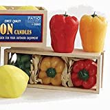 Patio Companion Citronella Pepper Candles Set of 3