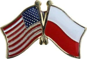 JumpingLight USA American Poland Friendship Flag Bike Motorcycle Hat Cap Lapel Pin for Home, Official Party, All Weather Indoors Outdoors
