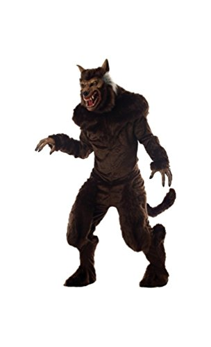 Deluxe Adult Wolf Mask (Werewolf Costume - Adult Costume deluxe - Large)