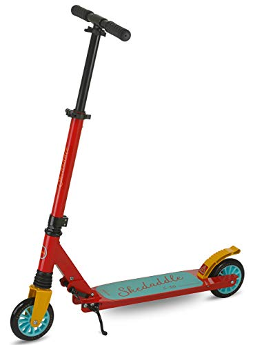 Scooter for Kids | 2 Wheel Scooter for Boys | Two Wheel Scooter for Girls | Outdoor King Kids Scooters | Folding Kids Scooter Easy to Transport | Scooride Skeddadle (Red)